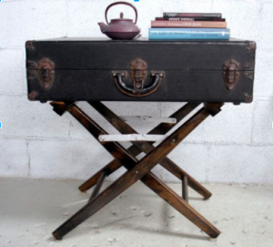 suitcase table, old suitcase, repurpose