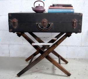 suitcase table, old suitcase, repurpose