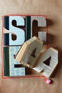 Letters, Book ideas, letter cut out