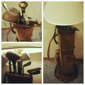 Golf clubs, golf lamp
