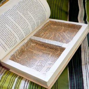 Keepsake, hide away box, old book ideas, repurpose