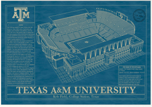 Texas a&m, stadium prints, blue prints