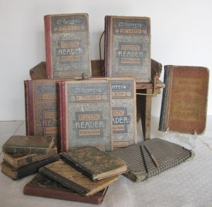 school books, antique books, old books