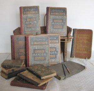 school books, antique books, old books