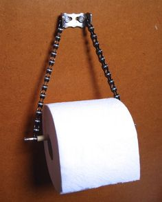 bike chain, toilet paper holder, bike chain ideas